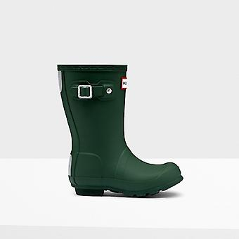 Hunter Original Kids Rubber Wellington Boots Green