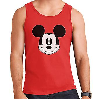Disney Mickey Mouse Cute Smile Black And White Men's Vest