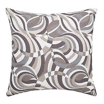 Contemporary Style Swirling Pattern Set of 2 Throw Pillows, Multicolor