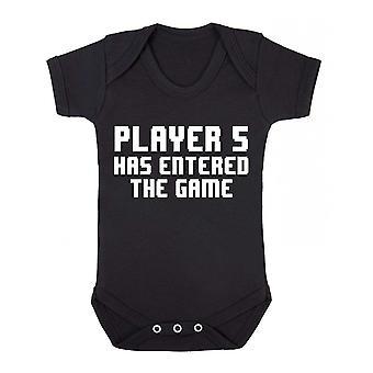 Joueur 5 est entré dans le jeu à manches courtes babygrow
