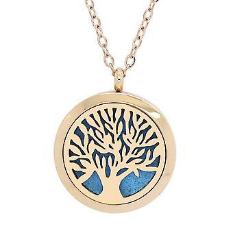 Vincenza aromterapi eterisk olja diffusor halsband, rostfritt stål medaljong hänge