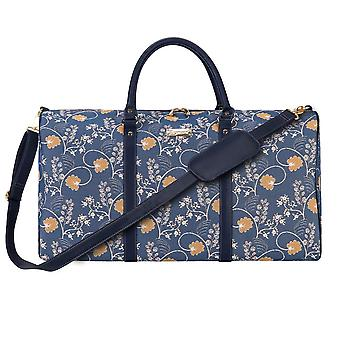 Jane austen Blue Big Travel holdall by signare tapestry/bhold-aust