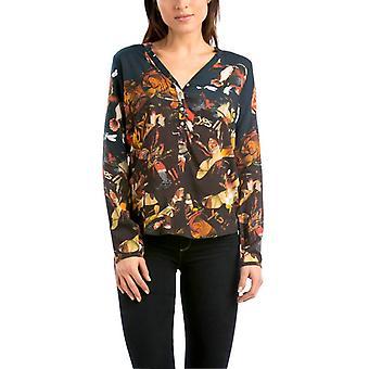 Desigual Women's Orange Insect Print Callia Shirt