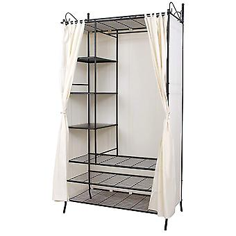 Metal clothing rack with curtain - 7 ply