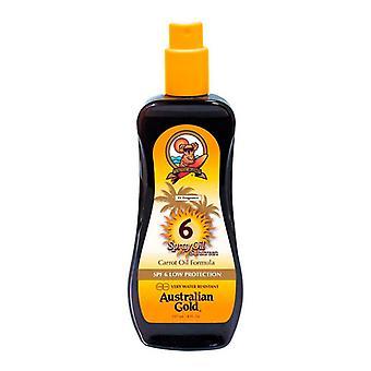 Bronzeamento óleo protetor solar australiano ouro FPS 6 (237 ml)
