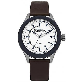 Watch SYG231BR - Rebel Challenger Leather Brown man