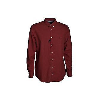 تؤمي هيلغر الرجال ' s راوند هيذر العادية تناسب قميص طويل الأكمام