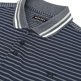 Wolsey Mens Stripe Split Stretch Lightweight Golf Polo Shirt