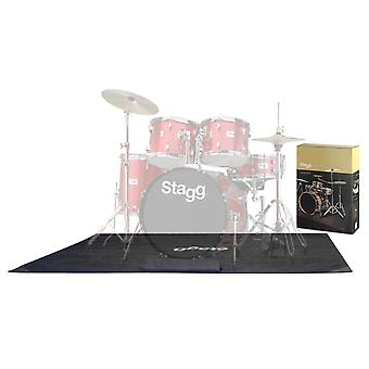 Stagg Drum Mat with Carry Bag - Lite