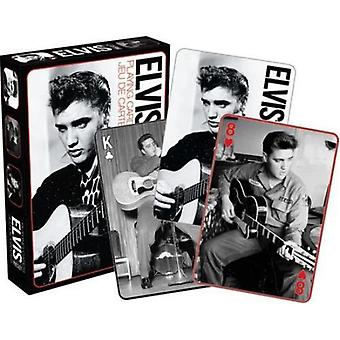 Elvis - black & white playing cards