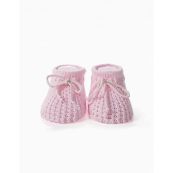 Zippy Knit Bootie W Pas L Pink aan