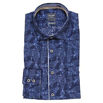 OLYMP Olymp Blue Shirt 4074 54 18