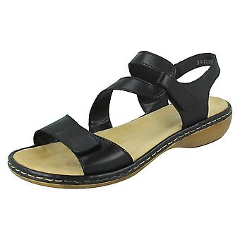 Ladies Rieker stilig strappy sandaler 659C7