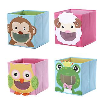 4x Storage boxes with animal motifs