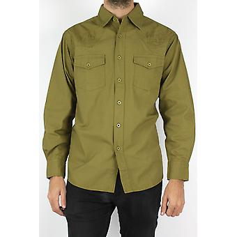 Military shirt cut straight
