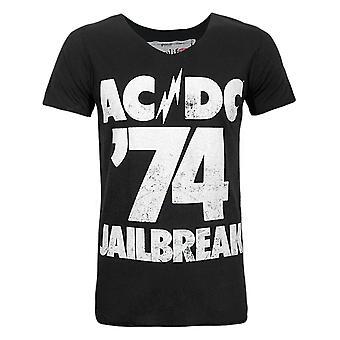 増幅されたAC /DCコミックス脱獄&アポス;74メン&アポス;s Tシャツ