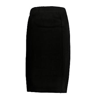 Susan Graver Skirt Ponte Pull-On Pencil Black A369156