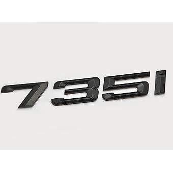 Matt Black BMW 735i Car Badge Emblem Model Numbers Letters For 7 Series E38 E65 E66E67 E68 F01 F02 F03 F04 G11 G12