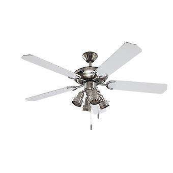 Ceiling fan Steel-Star White with lights 132cm / 52