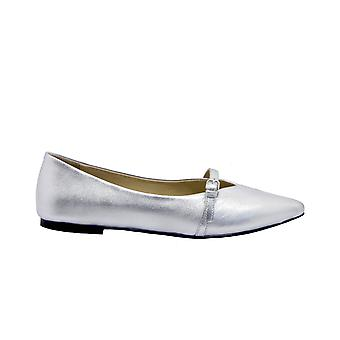 Strategia T36silver Women's Silver Leather Flats