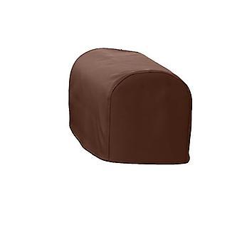 Grande formato marrone faux pelle cappuccio sedia copricoprire copricapo Slipcover disa