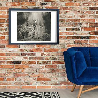 Rembrandt Harmenszoon van Rijn - kolme ylittää Juliste Tulosta Giclee