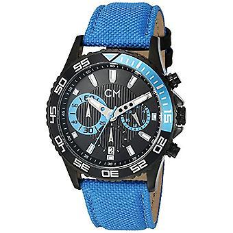 Carlo Monti CM509-663-men's wristwatch, fabric, color: Blue