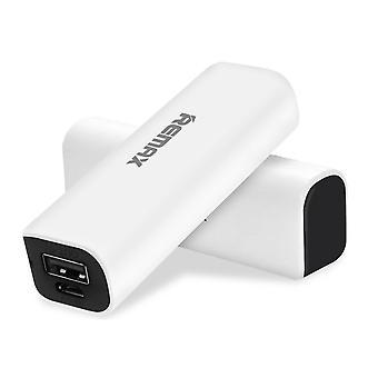 Powerbox 2600mAh Remax kompakte Powerbank, Zusatzakku – Schwarz und Weiß