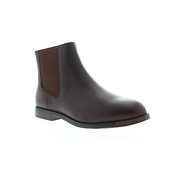 Camper Bowie  Womens Brown Leather Slip On Chelsea Boots