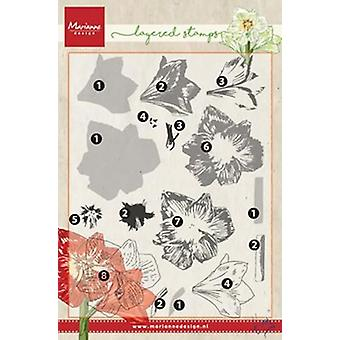Marianne Design Clear Stamp - Layering Tiny's Amaryllis TC0860