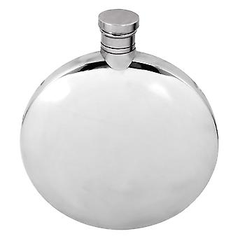 5.5oz Plain Round Ellipse Flask Pewter