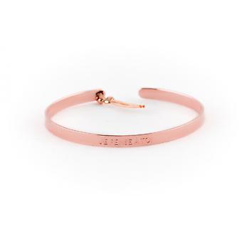 4 mm Ley Nat 'I think you' pink hair bracelet