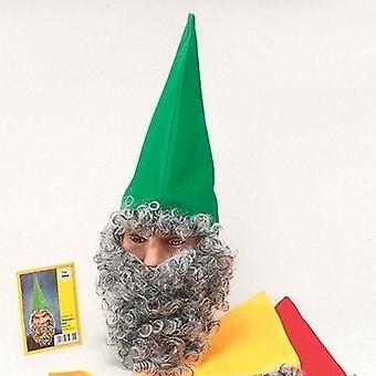 Kääpiö hattu vihreä + parta