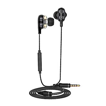 Headphones with Microphone CoolBox COO-AUR-S04DD Black