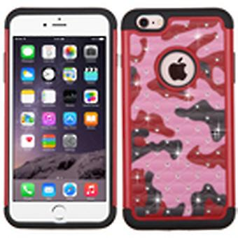ASMYNA FullStar Protector Case for iPhone 6s Plus/6 Plus - Red(Camo)/Black