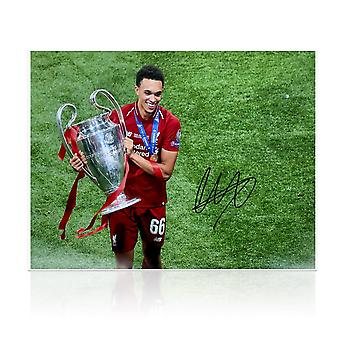 Trent Alexander-Arnold Signed Liverpool Photo: Champions League Celebration