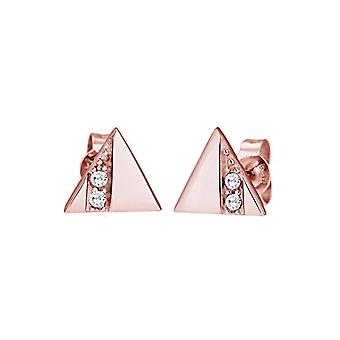 Elli Earrings for Women's Triangle in Silver 925 with Cubic Zirconia