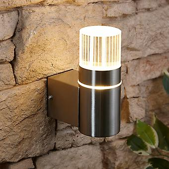 Biard LED Outdoor Garden Porch Up Wall Light - IP44 Weatherproof Stainless Steel