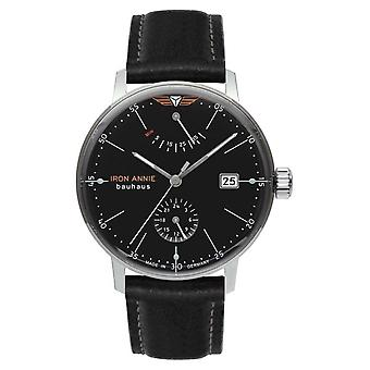 Iron Annie Bauhaus | Automatic | Black Leather Strap | Black Dial 5060-2 Watch