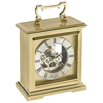 Woodford Gold Plated Skeleton Quartz Carriage Clock - Gold