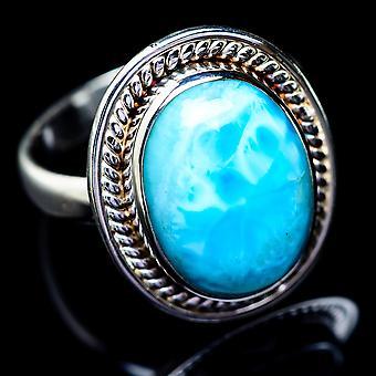 لاريمار خاتم حجم 9.25 (925 الجنيه الاسترليني الفضة) -- اليدوية بوهو خمر مجوهرات RING5482