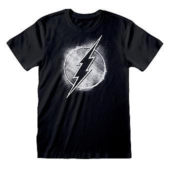 DC קומיקס מונו פלאש גברים לוגו מצוקה ' s חולצת טריקו | הסחורה הרשמית