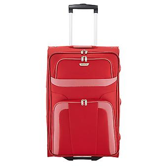 travelite Orlando Trolley M, 2 rollen, 63 cm, 58 L, rood