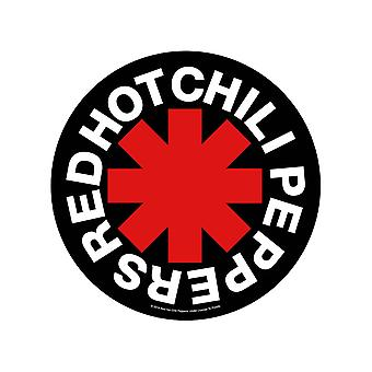 Red Hot Chili Peppers Back Patch Asterisk Band Logo new Official Circular 29 cm