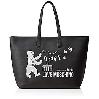 Love Moschino Pu Bag Tote Mujeres (Negro) 15x10x15 cm (Ancho x Alto x L)