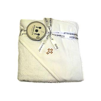 Bath Cape / Towel With Gold Cross For Orthodox Baptism - Grace Of Sweden
