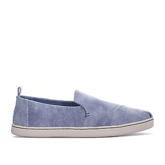 Women's Toms Washed Twill Deconstructed Pumps in Blue
