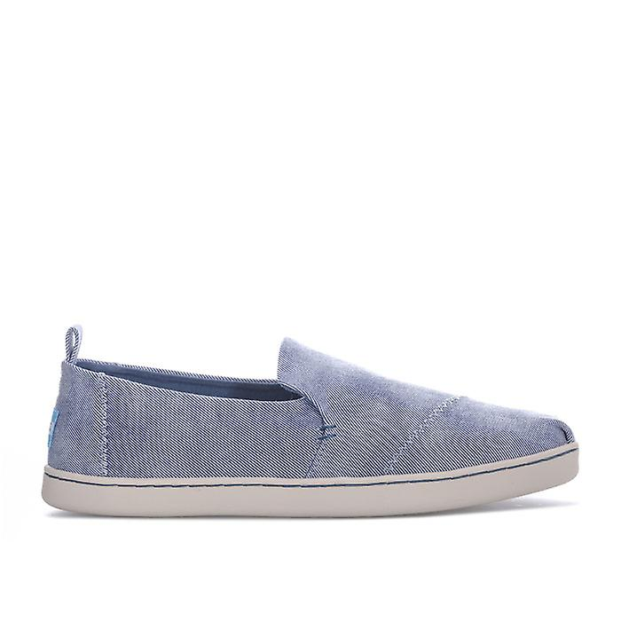 Women's Toms Washed Twill Deconstructed Pumps in Blue 8YOqb