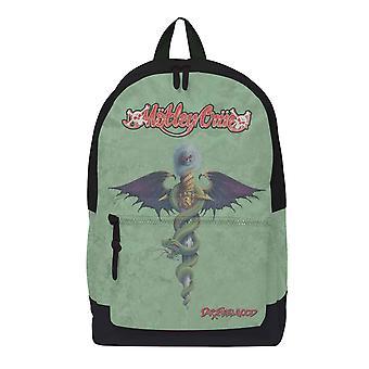 Motley Crue Backpack Bag Dr Feelgood Band Logo new Official Rocksax Green