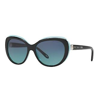 Tiffany TF4122 8055/9S Black on Tiffany Blue/Blue Gradient Sunglasses